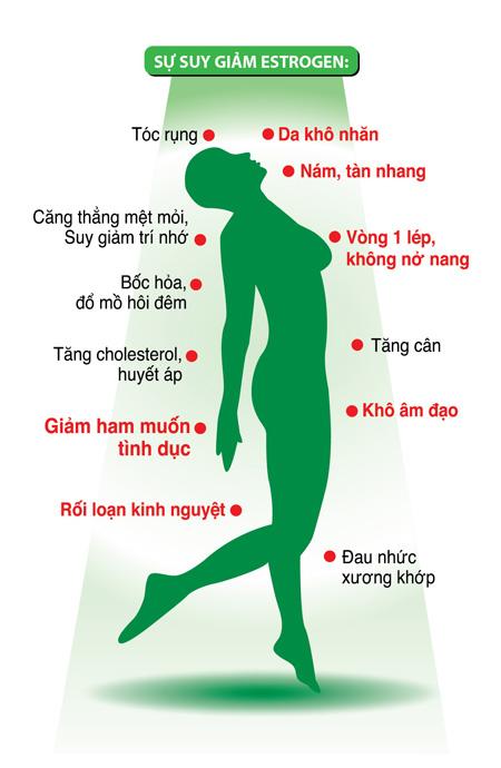 H1. Hậu quả của suy giảm nội tiết tố nữ