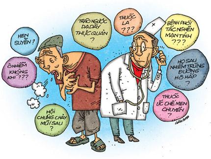 1. Minh họa nguyên nhân mắc bệnh phổi tắc nghẽn mãn tính