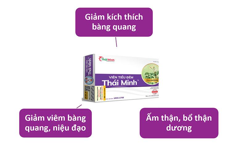 Công dụng Viên tiểu đêm Thái Minh: 1